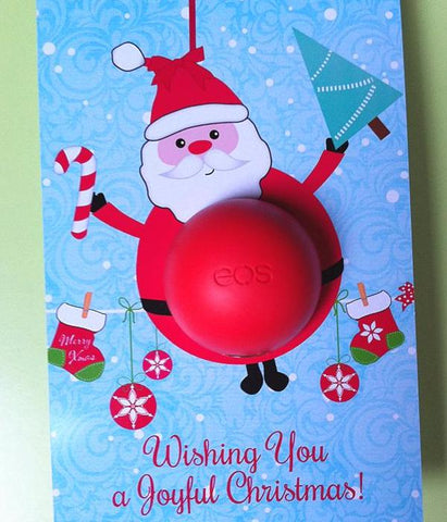 Santa Eos Balm Holder Printable Template - DIY Christmas Gift - INSTANT DOWNLOAD