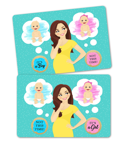 Gender Reveal Scratch Card - It's a girl - It's a boy-Twins Reveal Party