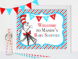 Printable Dr Seuss Welcome Sign Baby Shower Personalized Sign