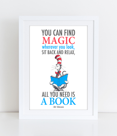 Dr Seuss Quote You can find magic Nursery Wall Art Quote - PDF DOWNLOAD