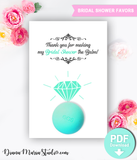 Ring Balm Holder - Eos Bridal Shower Favors - Engagement ring - DIY Favors -PRINTABLE PDF