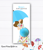 Umbrella Favors Eos balm holder - Umbrella Baby shower favors - Printable PDF