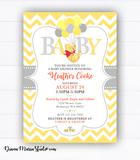 Winnie the Pooh Baby Shower Invitations Gender Neutral Boy Winnie Invitation
