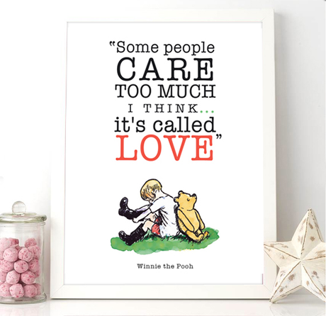 Printable Nursery Quote Winnie the Pooh Love Quote PDF Download