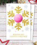 Snowflake Balm Holder - DIY Christmas Gift Stocking fillers - Printable template- INSTANT DOWNLOAD