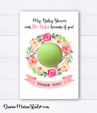 Wreath Balm Holder Eos Baby Shower Favors - INSTANT DOWNLOAD
