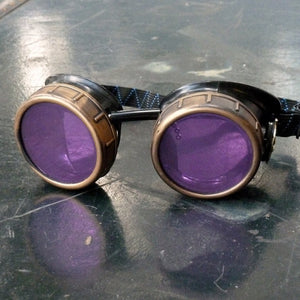 Basic Purple Steampunk Goggles - Steampunk Artifacts