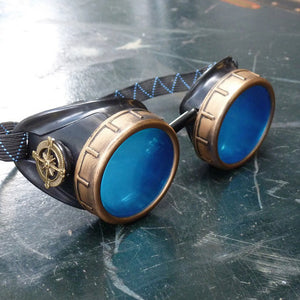 Basic Blue Steampunk Goggles - Steampunk Artifacts