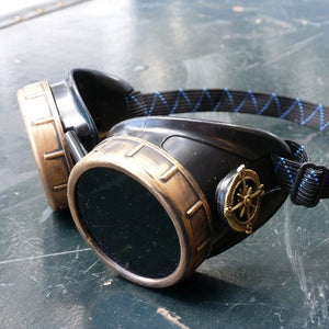 Basic Dark Steampunk Goggles - Steampunk Artifacts