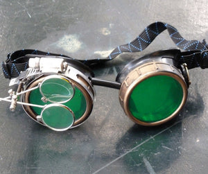Green Steampunk Goggles - Steampunk Artifacts