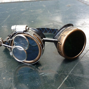 Navy Blue Steampunk Goggles - Steampunk Artifacts