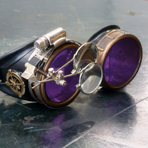 Purple Steampunk Goggles - Steampunk Artifacts