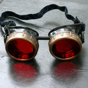 Basic Red Steampunk Goggles - Steampunk Artifacts