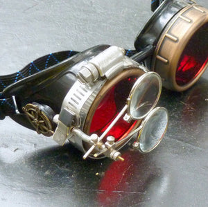 Red Steampunk Goggles - Steampunk Artifacts