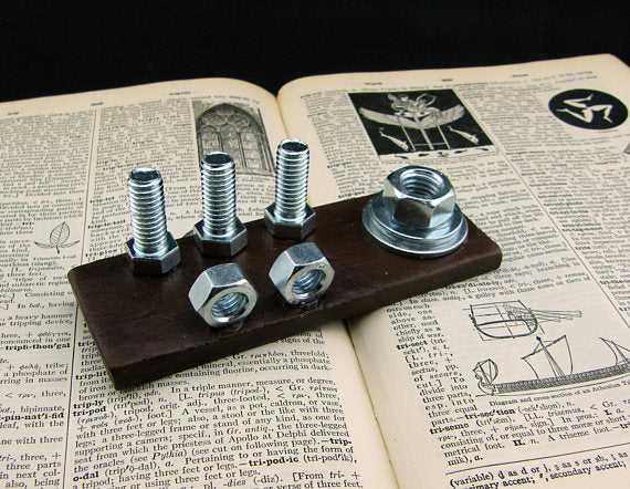 Steampunk Industrial Business Card And Pen Holder Steampunk Artifacts