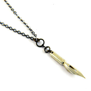 Antique Steampunk Pen Nib Necklace - Steampunk Artifacts