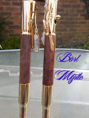Handturned Bolt-action Steampunk Pen - Steampunk Artifacts