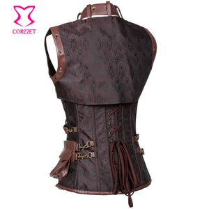 Alina Goth/Steampunk Leather Corset
