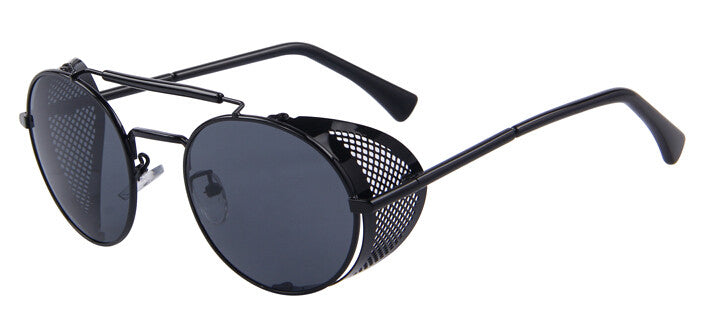 708dd6759e4 Black Sunglasses with Perforated Side Shields – Hipster   Retro - Steampunk  Artifacts