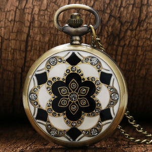 Moroccan Tiles Steampunk Pocket Watch - Steampunk Artifacts