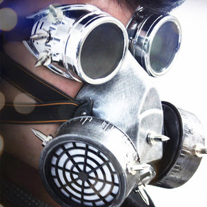 Classic Steampunk Respirator Mask and Goggles Set - Steampunk Artifacts