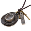 Steampunk Bronze/Silver Cowboy Necklace -  - 2