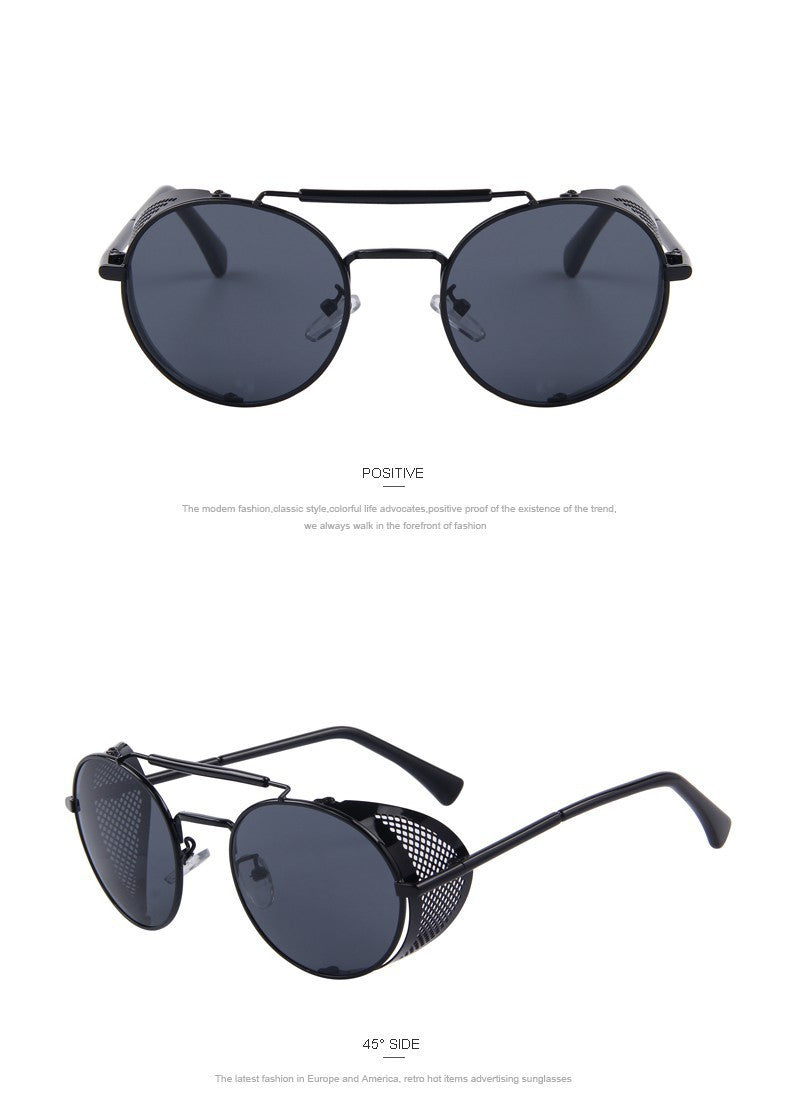 b96a36c4a4 Black Sunglasses with Perforated Side Shields – Hipster   Retro - Steampunk  Artifacts