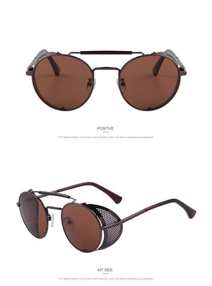 Black Sunglasses with Perforated Side Shields – Hipster & Retro - Steampunk Artifacts