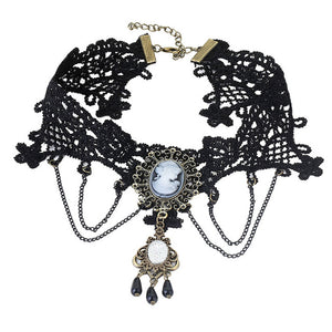 Lace Steampunk Necklace Collection - Steampunk Artifacts