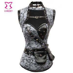 Electra Steampunk Leather Armor Corset