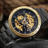 007 Automatic Skeleton Steampunk Watch