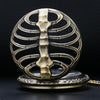 Skeleton Spine Steampunk Pocket Watch