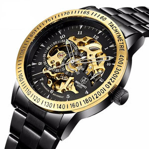 007 Automatic Skeleton Steampunk Watch - Steampunk Artifacts
