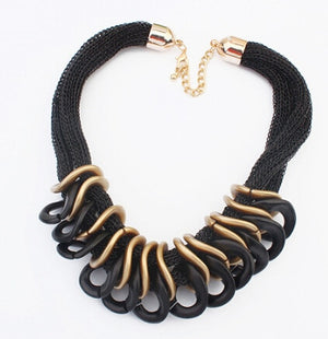 Steampunk Black Statement Necklace