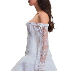 Avelina Floral Lace Steampunk Corset Dress