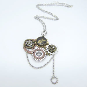 Multiple Gears Steampunk Necklace - Steampunk Artifacts