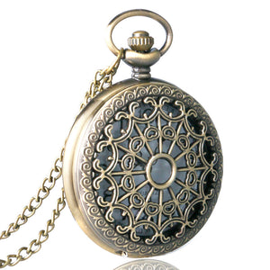 Spider Web Quartz Steampunk Pocket Watch - Steampunk Artifacts
