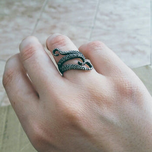 Octopus Steampunk Ring - Steampunk Artifacts