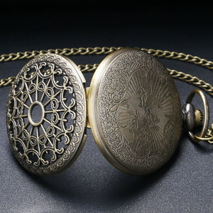 Vintage Steampunk Golden Pocket Watch - Steampunk Artifacts