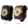 Vintage Steampunk Leather Bracelet Watch -  - 5