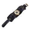 Vintage Steampunk Leather Bracelet Watch -  - 10
