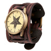 Vintage Steampunk Leather Bracelet Watch -  - 2