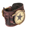 Vintage Steampunk Leather Bracelet Watch -  - 3