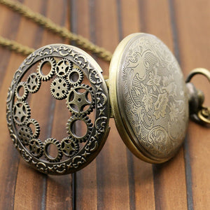 Bronze Steampunk Gear Pocket Watch - Steampunk Artifacts