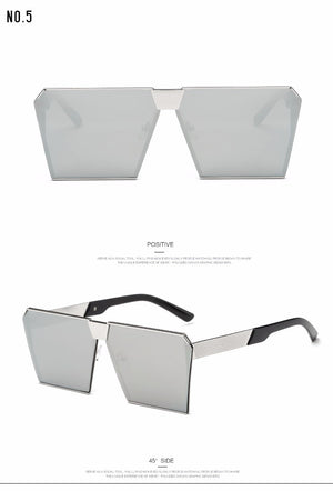Futuristic Oversized Square Sunglasses - Steampunk Artifacts
