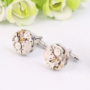 Steampunk Skeleton Mechanical Cufflinks - Steampunk Artifacts