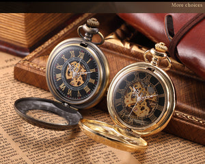 Steampunk Chain Pocket Watch - The Black Pearl - Steampunk Artifacts