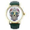 Colorful Punk Skull Leather Watch -  - 6
