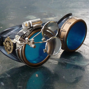 Blue Steampunk Goggles - Steampunk Artifacts