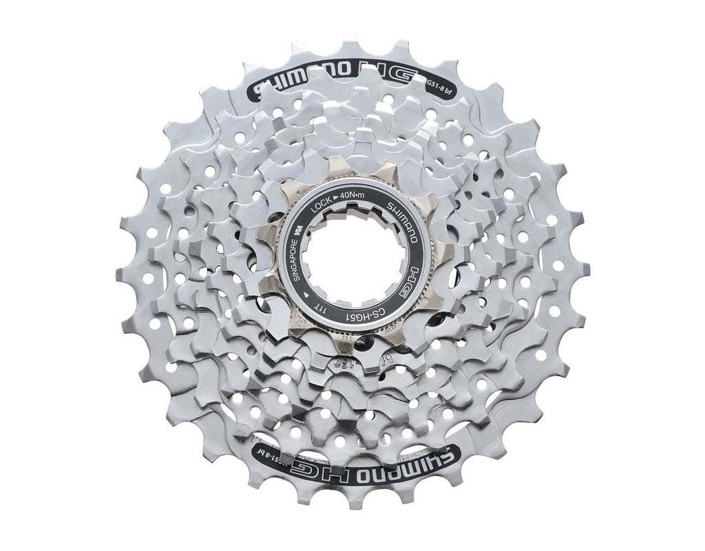 Shimano Alivio Casette Sprocket CS-HG51-8 8-Speed 11-28t (Chrome)